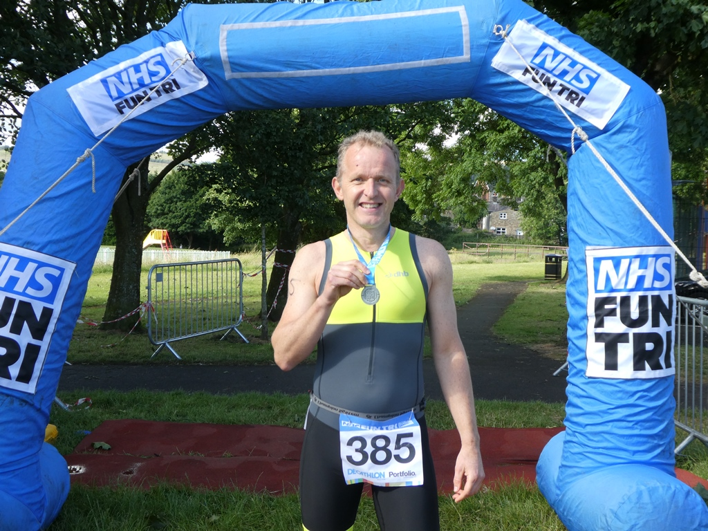 Dr Neil Smith at NHS Triathlon