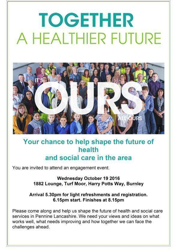 Healthier Future Burnley Event