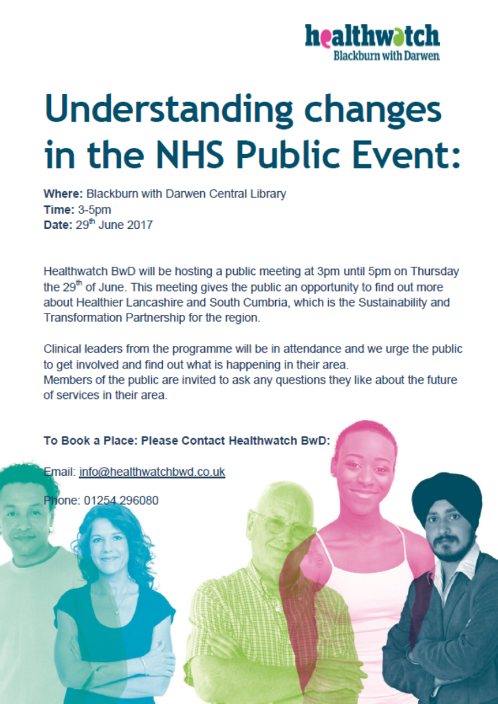Healthwatch BwD event