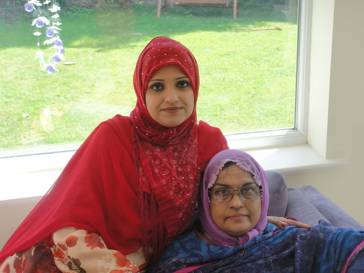 Sofia Kamran and her mother Jabeen