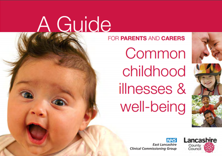 Picture of a baby on the front cover of the Childhood Illness Booklet